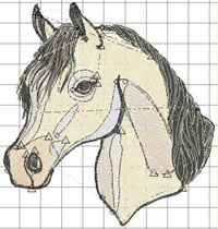 Digitised horse artwork